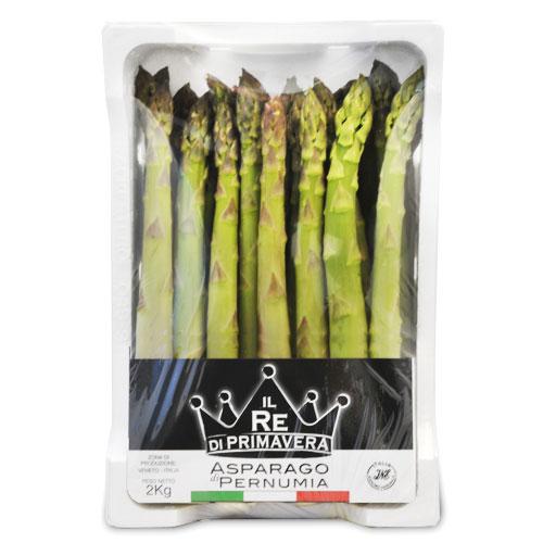 Asparagi Verdi - calibro 22+ Confezione da 2kg - Azienda Agricola Baraldo Luigino - Pernumia Padova