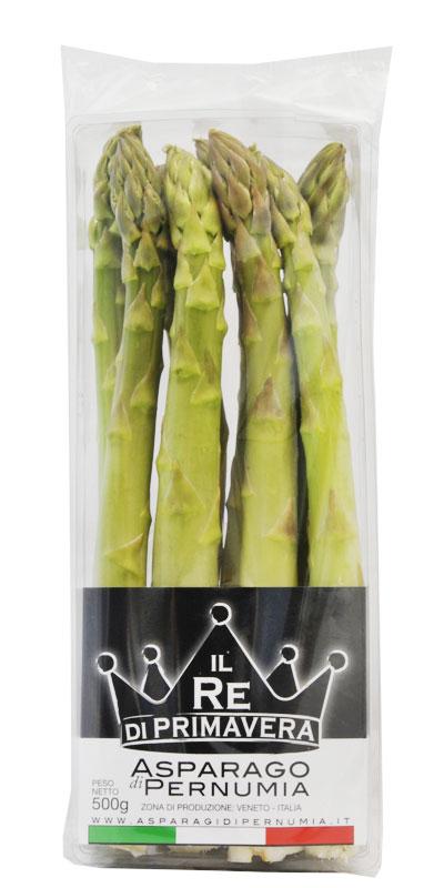 Asparagi Verdi - calibro 22+ Confezione da 500g - Azienda Agricola Baraldo Luigino - Pernumia Padova
