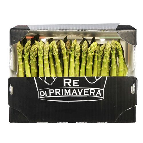 Asparagi Verdi - calibro 22+ Confezione da 5kg - Azienda Agricola Baraldo Luigino - Pernumia Padova