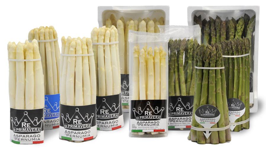 White Asparagus and Green Packs of Padua Pernumia