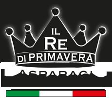 Logo King of Spring - Asparagus Pernumia - Farm Baraldo Luigino - Padua Pernumia